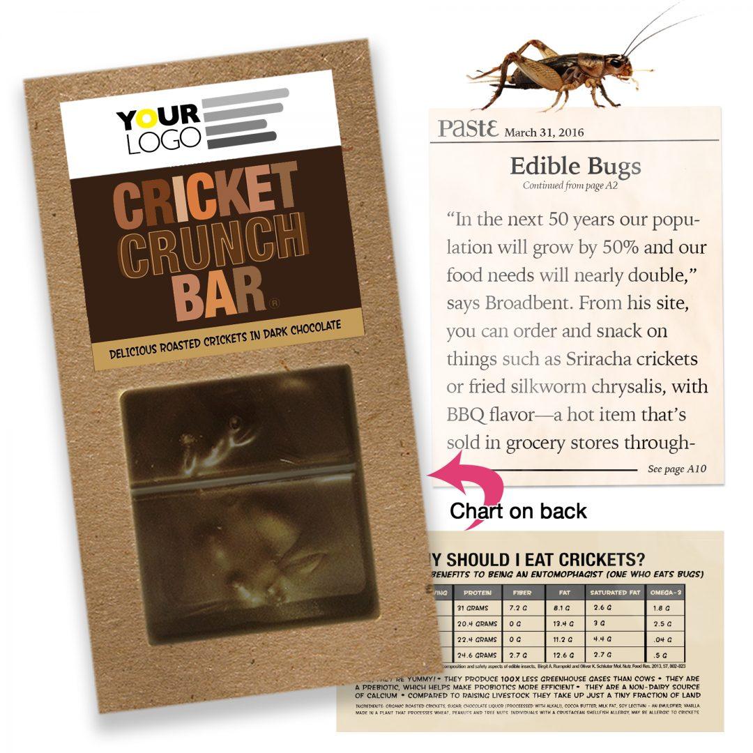 Cricket Crunch Bar | Whole Crickets | Dark Chocolate | Full Size