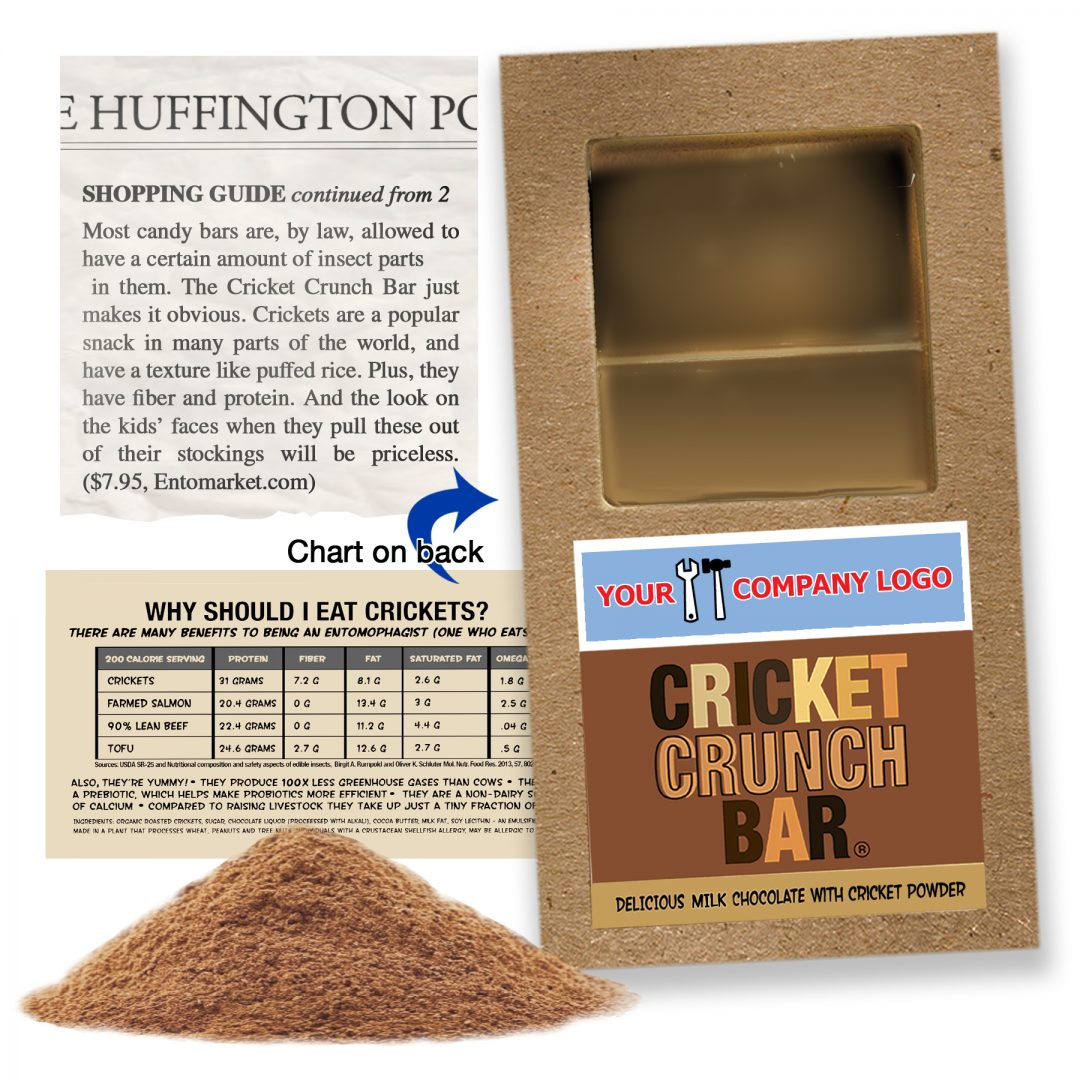 Cricket Crunch Bar | Cricket Powder | Milk Chocolate | Full Size