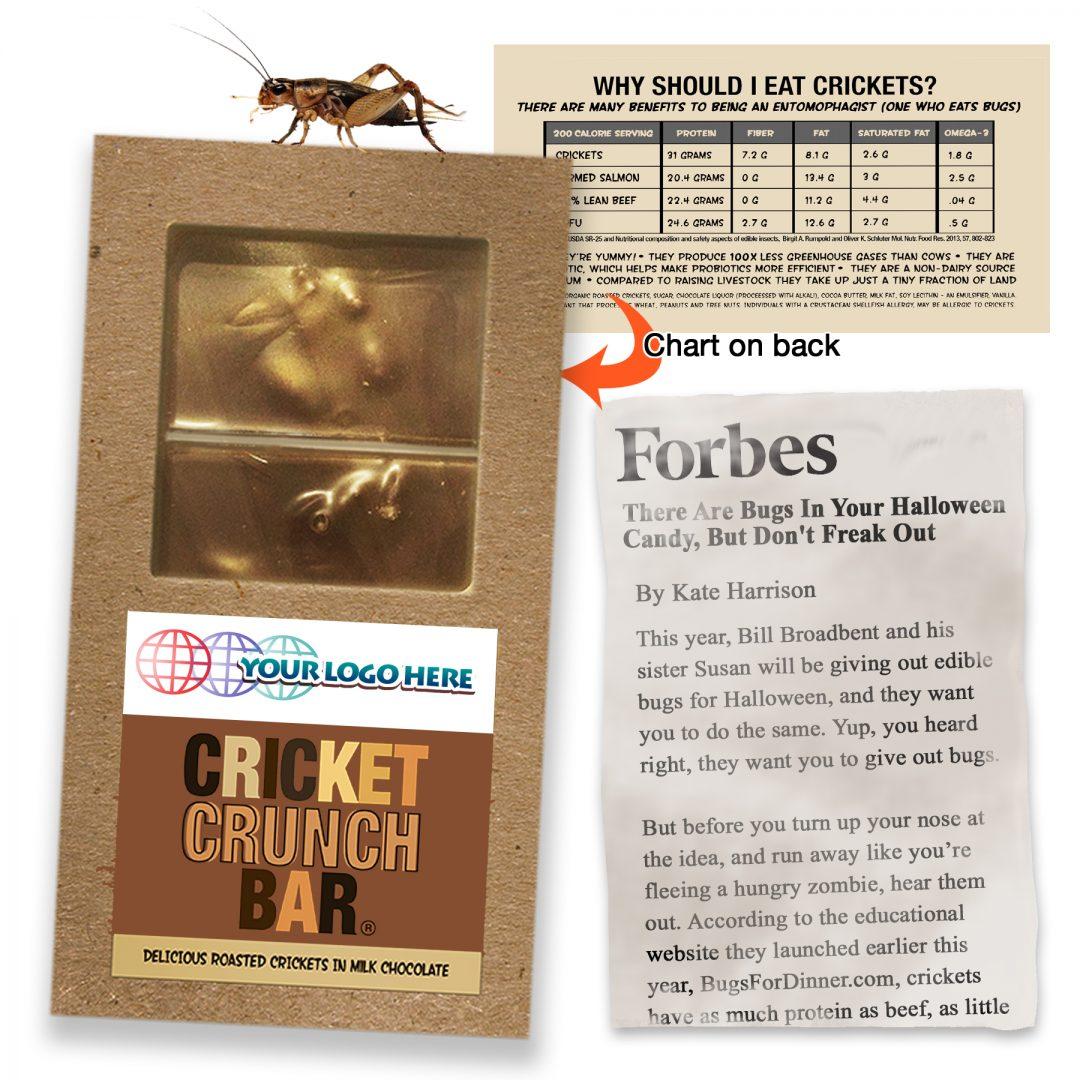 Cricket Crunch Bar | Whole Crickets | Milk Chocolate | Full Size