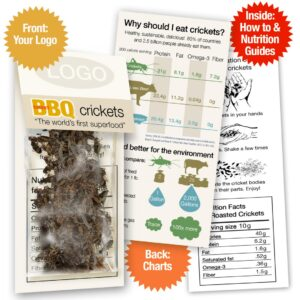 BBQ Whole Roasted Crickets Sample