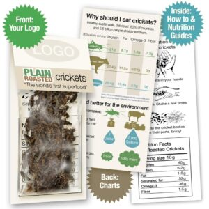 Whole Roasted Crickets Sample