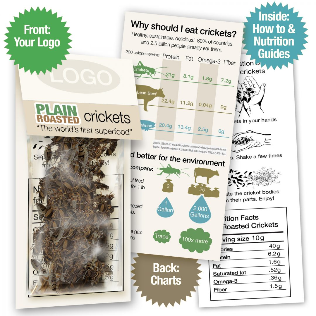 Whole Roasted Crickets Sample Pack