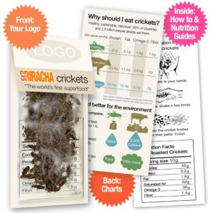 Sriracha Whole Roasted Crickets Sample