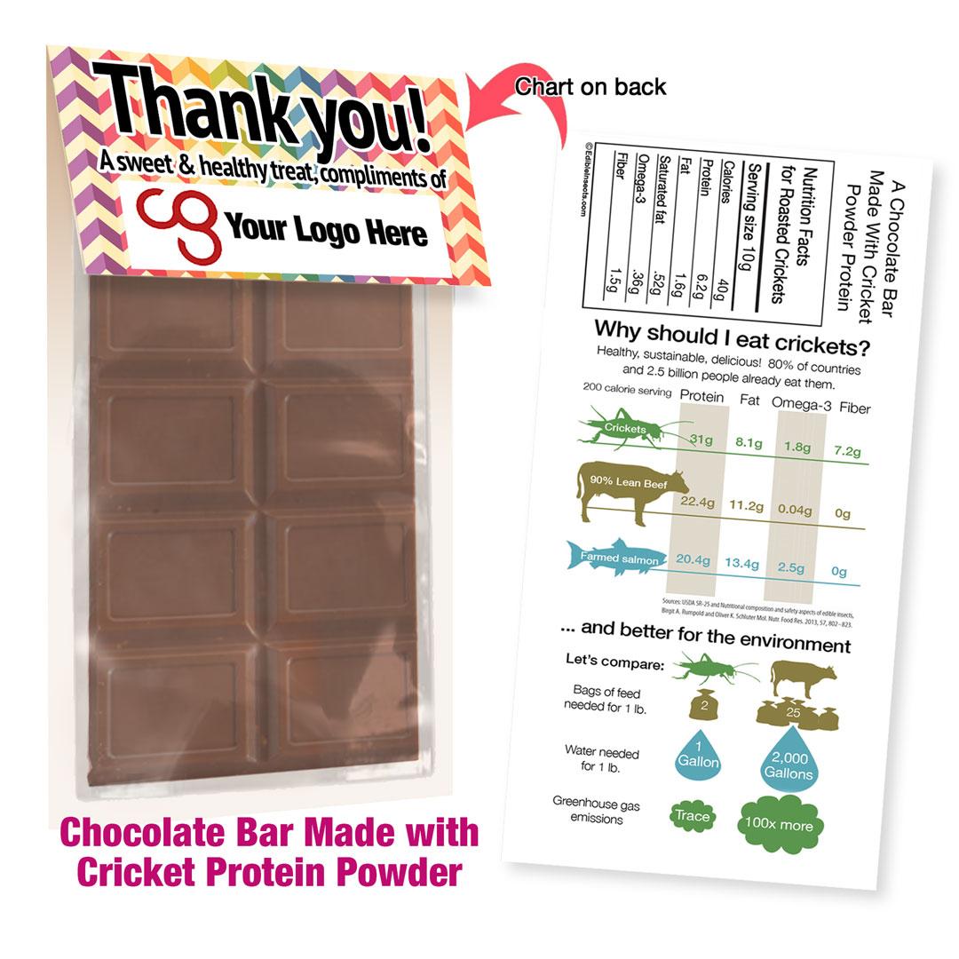 Cricket Crunch Bar | Cricket Powder | Dark Chocolate | Promo Size
