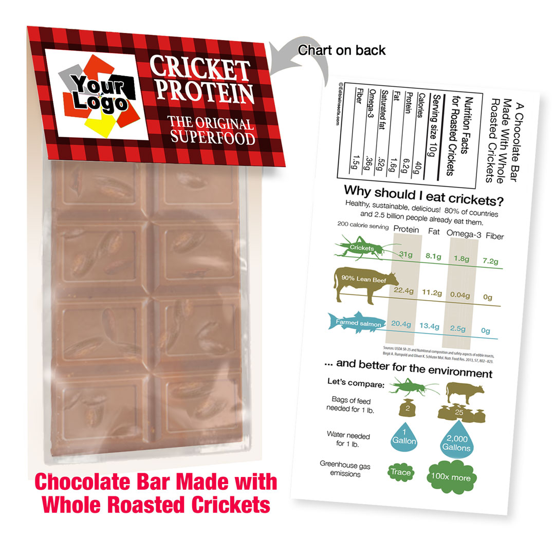 Cricket Crunch Bar | Whole Crickets | Milk Chocolate | Promo Size